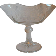 Crystal Etched Design Compote