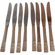 Eight Community Coronation Silverplate Knifes
