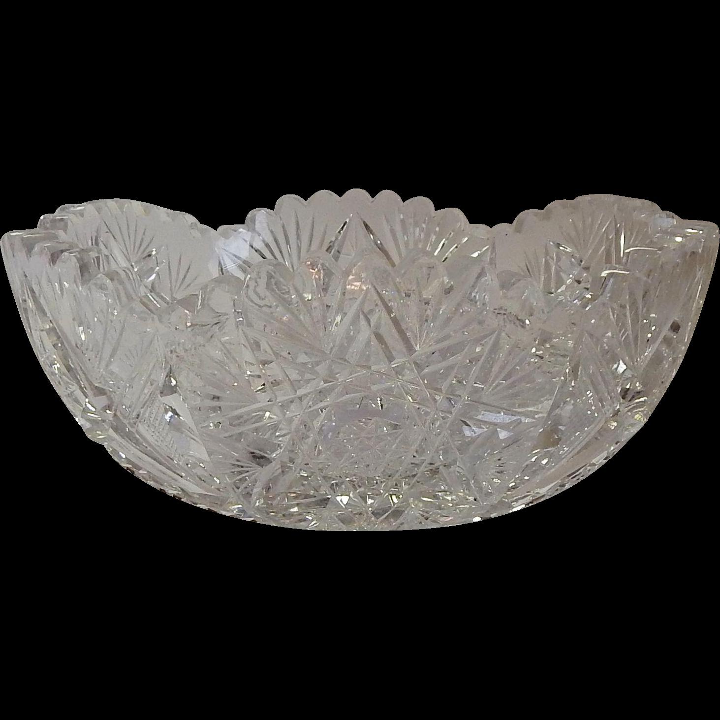 Cut Glass Crystal Bowl
