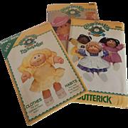 Three Cabbage Patch Kids Butterick Patterns