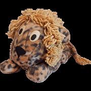 Vintage Stuffed Plush Toy Lion