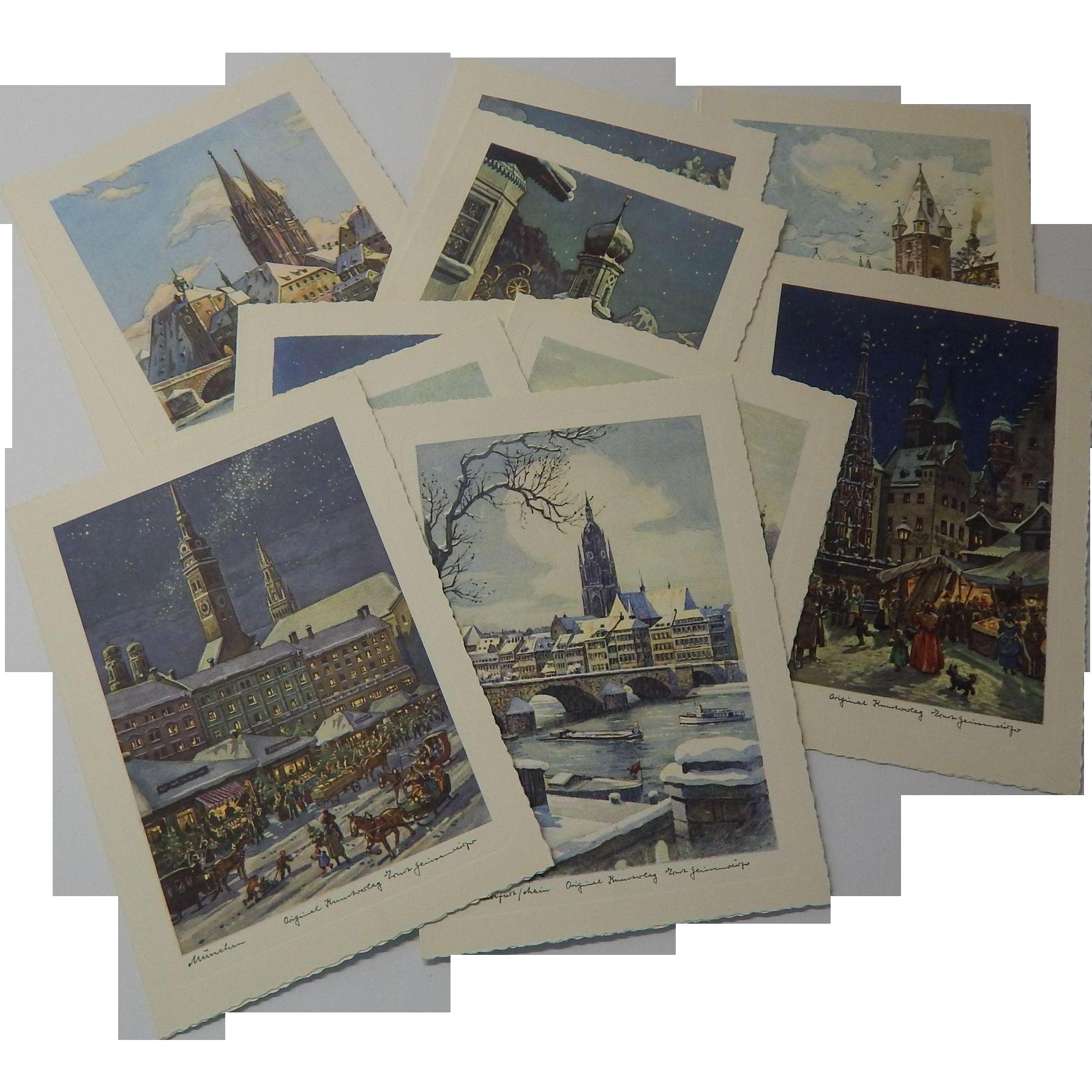 12 Christmas Cards Ernst Geissendorter