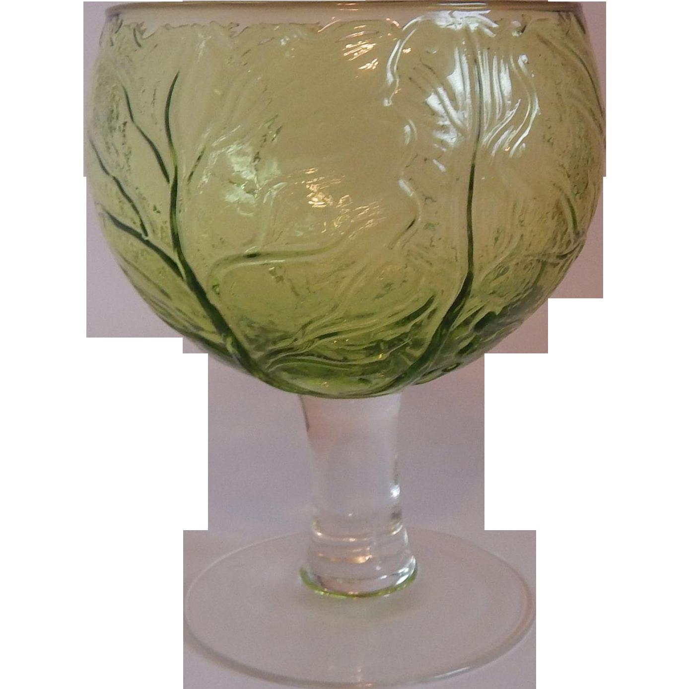 Sigma Taste Setter Green Cabbage Leaf Goblet
