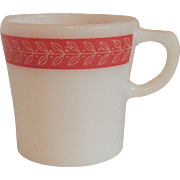 Pyrex Laurel Leaf Red Mug
