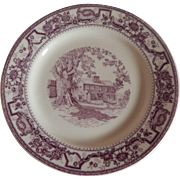 Historic Hartwell Farm Walker China Restaurant Plate