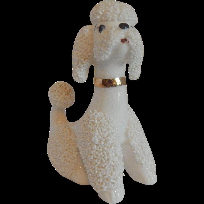 Napco White Spaghetti Poodle Figurine