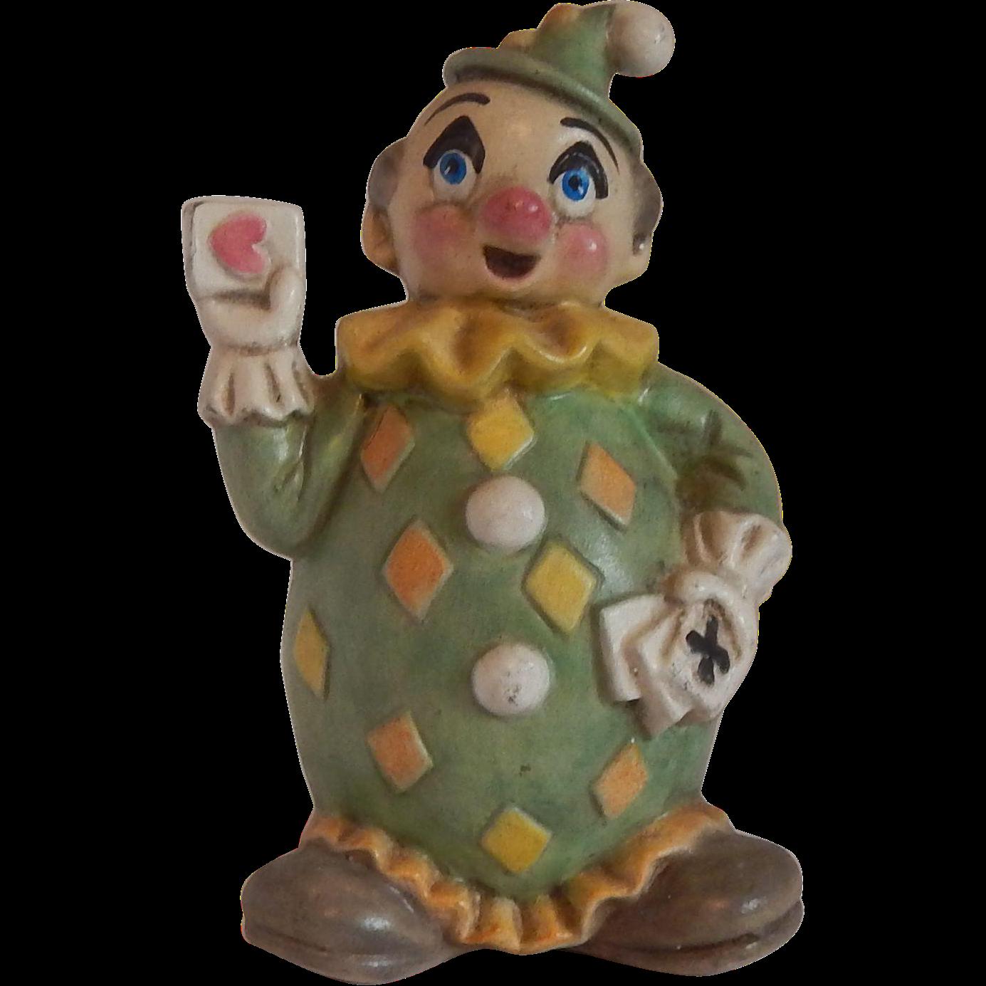 Hand Painted Ceramic Clown Figurine