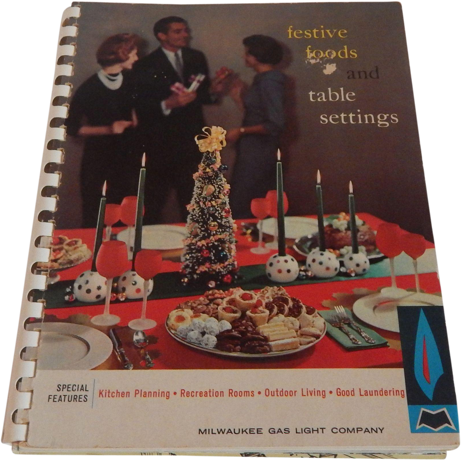 Festive Foods and Table Setting Milwaukee Gas Light Company