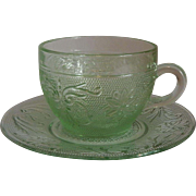 Tiara Exclusives Sandwich Chantilly Green Cup & Saucer