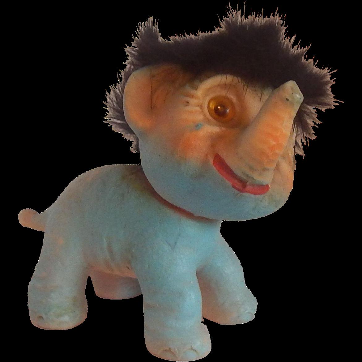Blue Uglies Elephant Troll 1960's