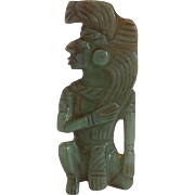Jade Aztec Indian Figurine