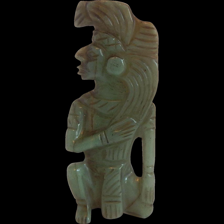 Jade Aztec Indian Figurine