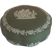 Wedgwood Sage Green Jasperware Asclepius Trinket Box
