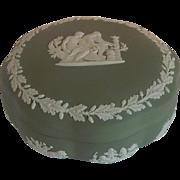 Wedgwood Sage Green Jasperware Asclepius Trinket Box