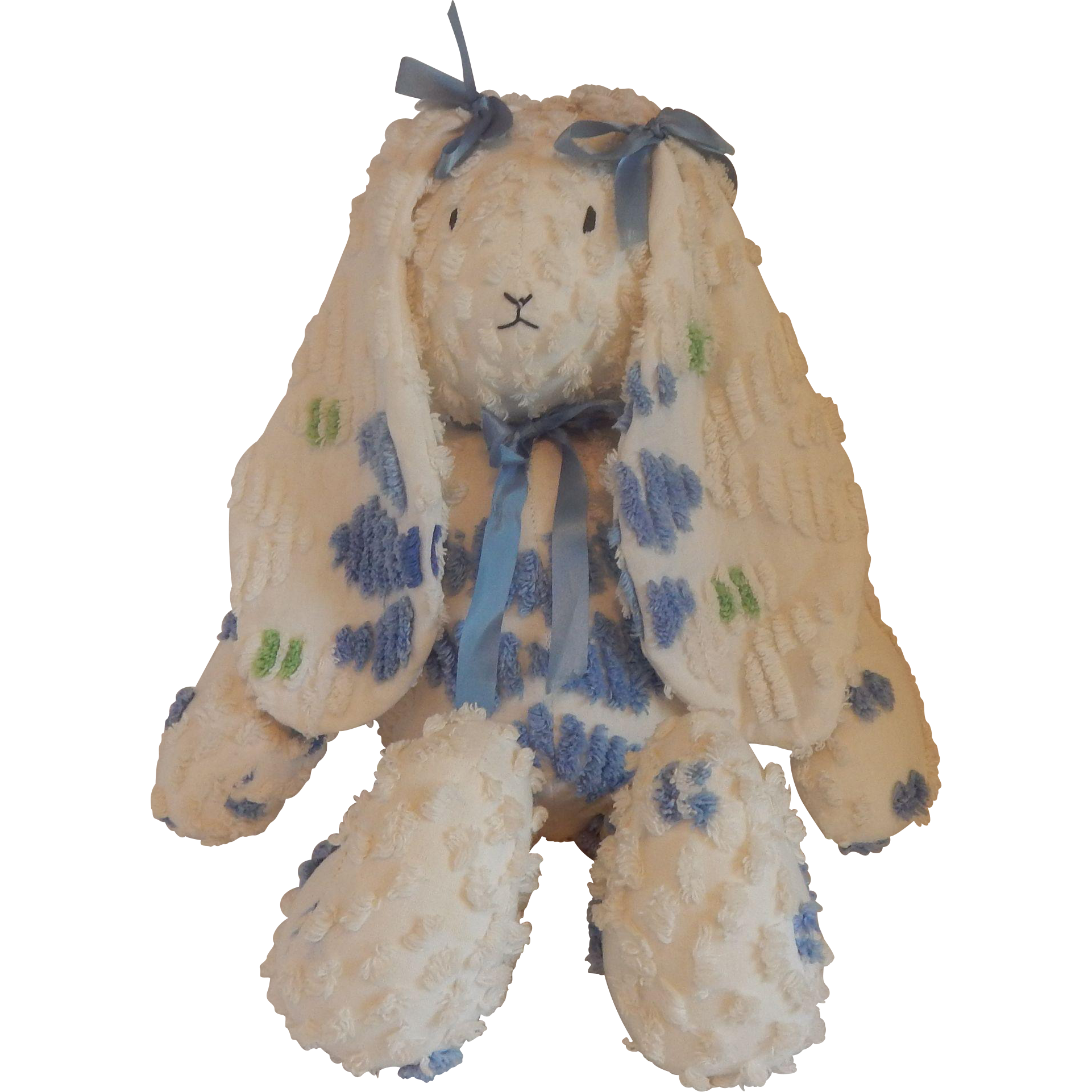 Handmade Bunny Rabbit from Chenille Bedspread