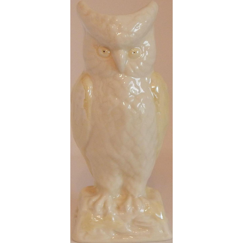 Irish Belleek Owl Vase