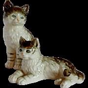 Pair of Ceramic Cat Figurines