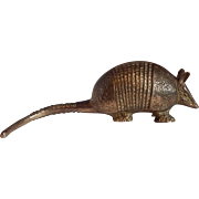 Brass Armadillo Figurine