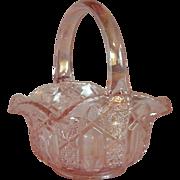 L.S. Smith Pink Quintec Glass Basket