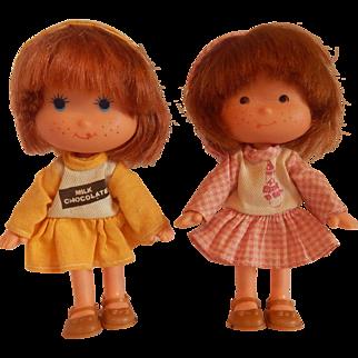 Two Blue Box Toy Dolls 1981