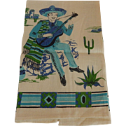 Parisian Print Kitchen Towel Mexican Man Motif