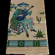 Parisian Print Kitchen Towel Mexican Man Motif