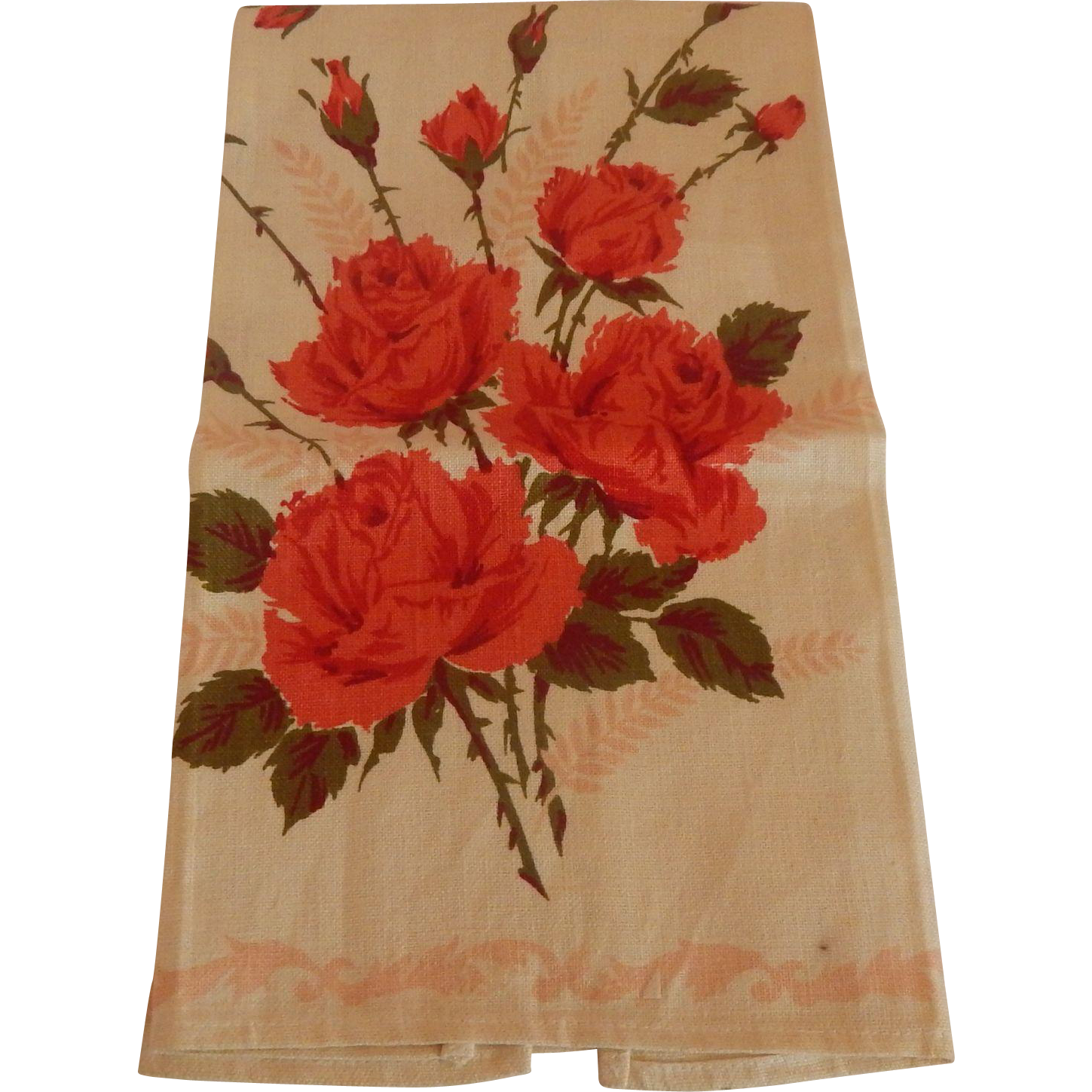 Parisian Print Kitchen Towel with Roses