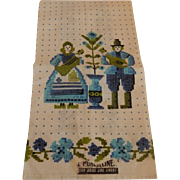 Parisian Print Kitchen Towel with Dutch Couple