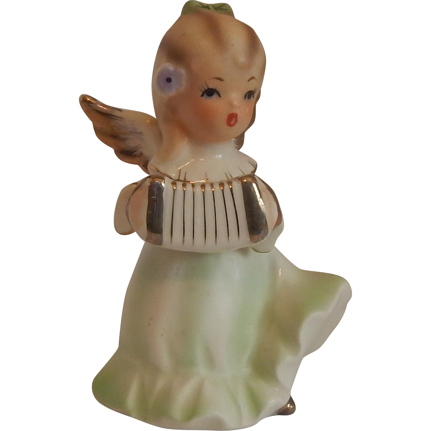 Angel Playing Accordion Figurine by Adriane