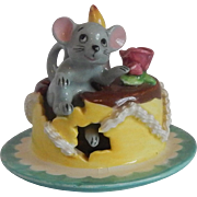 Lipper & Mann Mouse Birthday Cake Figurine