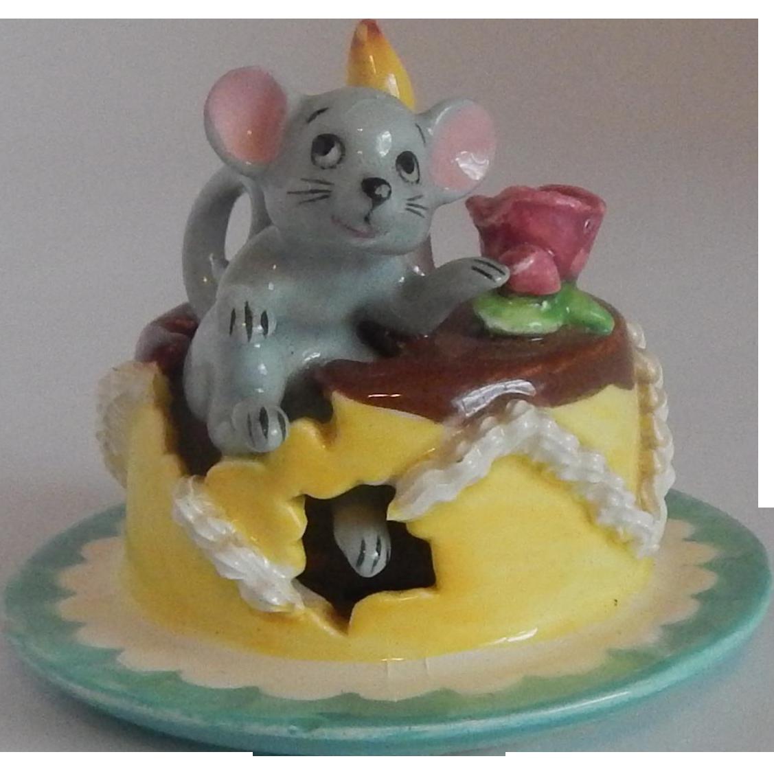 Lipper & Mann Mouse Birthday Cake Figurine