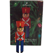 Hallmark Clothespin Soldier 1980 Ornament