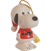 Snoopy Santa Ceramic Christmas Ornament