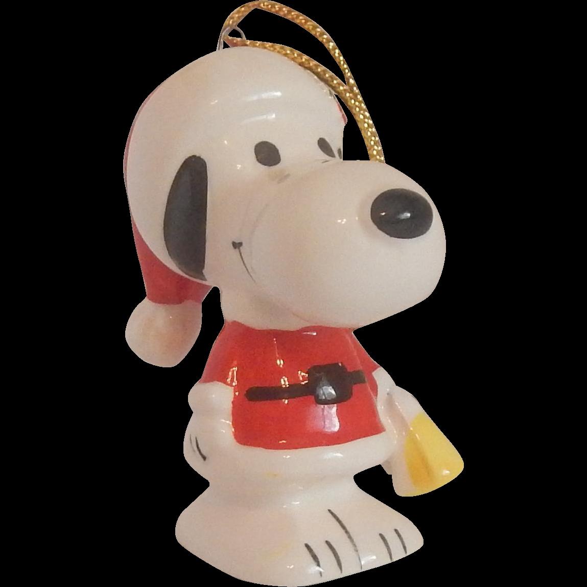Snoopy Santa Ceramic Christmas Ornament