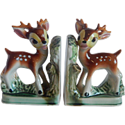 Set Of Fawn Deer Ceramic Bookends