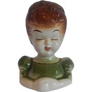 Lady Ceramic Head Vase