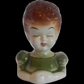 Lady Ceramic Head Vase