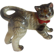 Hand Painted Ceramic Striped Kitten Figurine