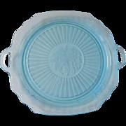 Hocking Depression Ice Blue Mayfair Platter