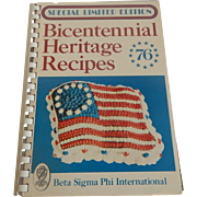 Bicentennial Heritage Recipes 1976