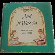 And It Was So by Tasha Tudor