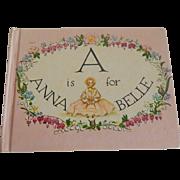 "Tasha Tudor Book ""A Is For Annabella """