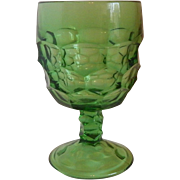 Viking Glass Georgian Light Emerald Green Water Goblet