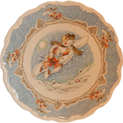 Royal Doulton Snowman Plate Walking In Air Plate