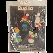 Bucilla  Wind Up Toys Christmas Ornaments Needlecraft  Kit