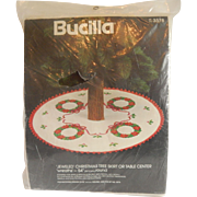 Bucilla Christmas Tree Skirt Or Table Center Wreaths Kit