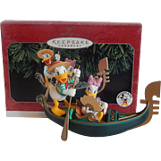 Hallmark Ornament Donald and Daisy in Venice