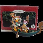 Hallmark Ornament Donald and Daisy in Venice