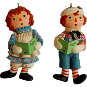 Hallmark Keepsake Raggedy Ann and Andy Ornaments