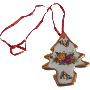 Royal Albert Old Country Roses  Chrismtas Magic Ornament